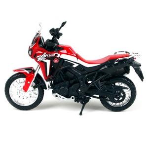 Image 3 - 1:18 skala Maisto Honda CRF1000L afryka Twin DCT 2016 Sport Diecast Off motocykl szosoway Model zabawkowy prezenty dla dzieci