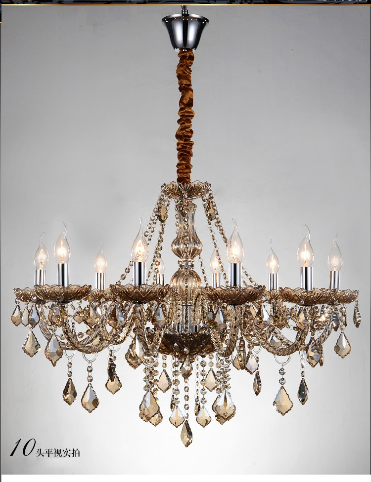 люстра chandelier 6 arm Luxury 6/810/15/18 Lights arm Chandelier large modern pendant crystal light k9 crystal lamp chandelie lustre candelabro de sala