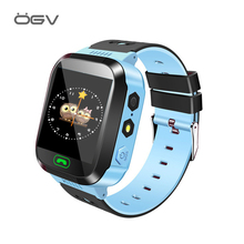 Купить с кэшбэком OGV Q528 Smart watch Children Kid Wristwatch SOS GSM Locator Tracker Anti-Lost Safe Smartwatch Child Guard for iOS Android