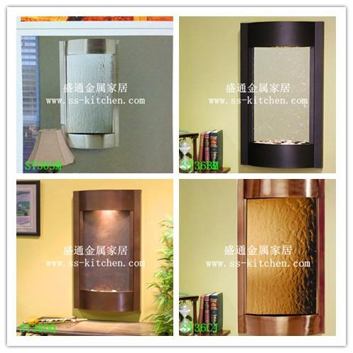 2015 Nieuwe Stijl wall mounted water fontein muur decor zilveren spiegel bronzen spiegel muurstickers art Decals home Decoratie