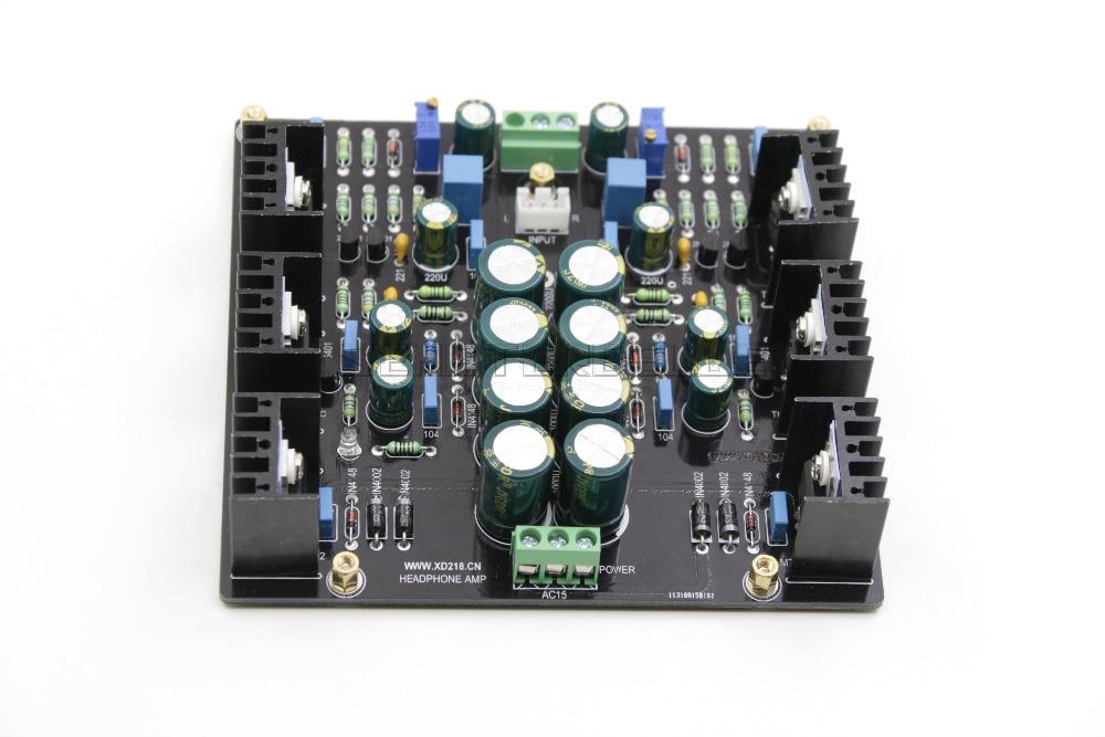 Assembly JHL Single-ended Class A Dual-Channel Amplifier Board 2N5401 2N5551 Preamplifier Board gzlozone assembled x29f single ended dc class a preamplifier board alps potentiometer