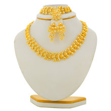 African Gold Color Ethiopian Jewelry Eritrea Habesha Sudan set Bridal Wedding Jewellery Pendant Necklace Earring Arab for Women(China)