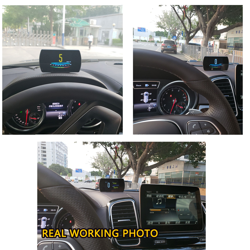 "Image 5 - GEYIREN T800 4.3"" Smart Digital Head Up Display Car HUAutomobile On board Computer Car Digital OBD Driving Computer Display Cars-in Head-up Display from Automobiles & Motorcycles"