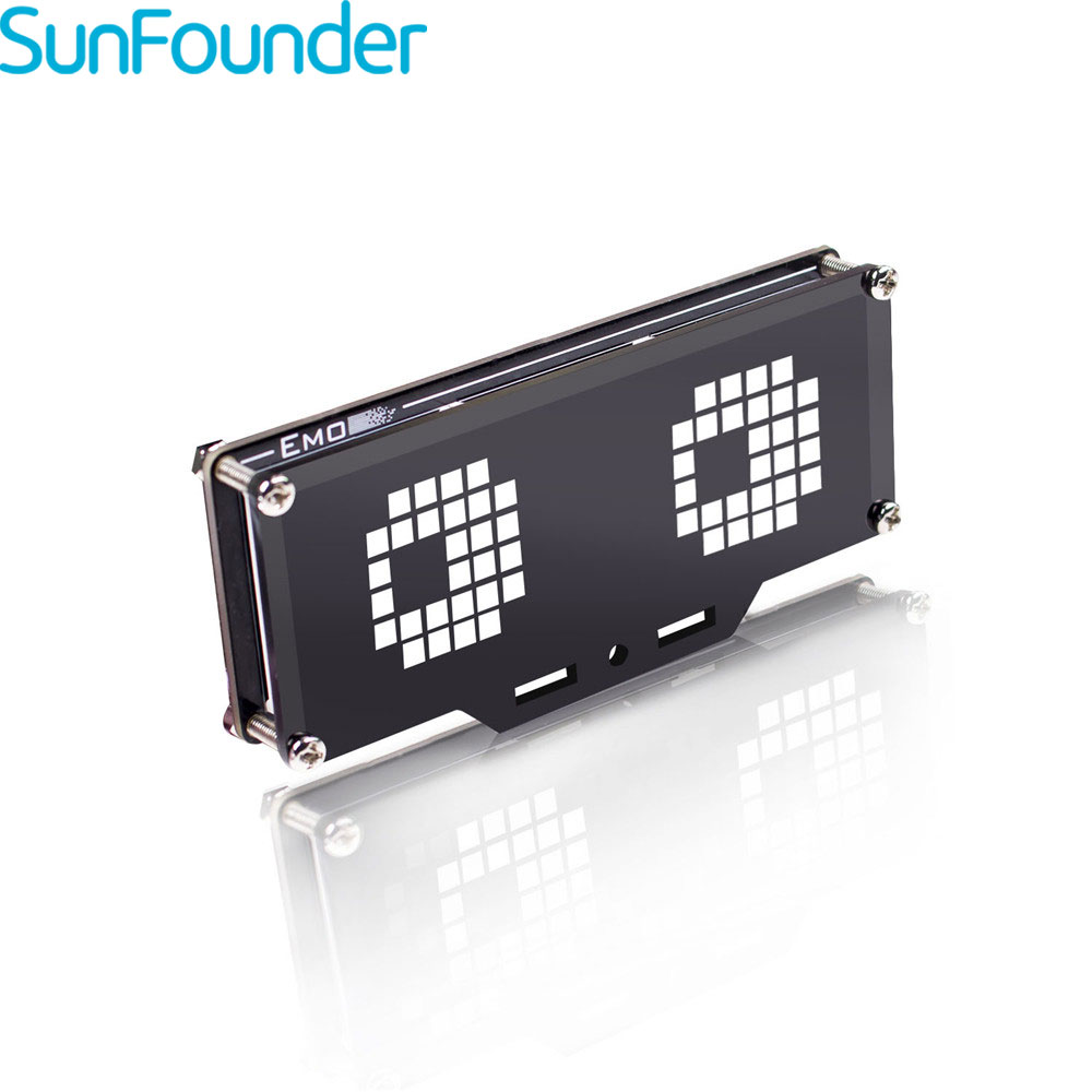 SunFounder Emo 24*8 LED Module D'affichage À Matrice De points de Contrôle MCU Kit DE BRICOLAGE pour Arduino et Framboise Pi