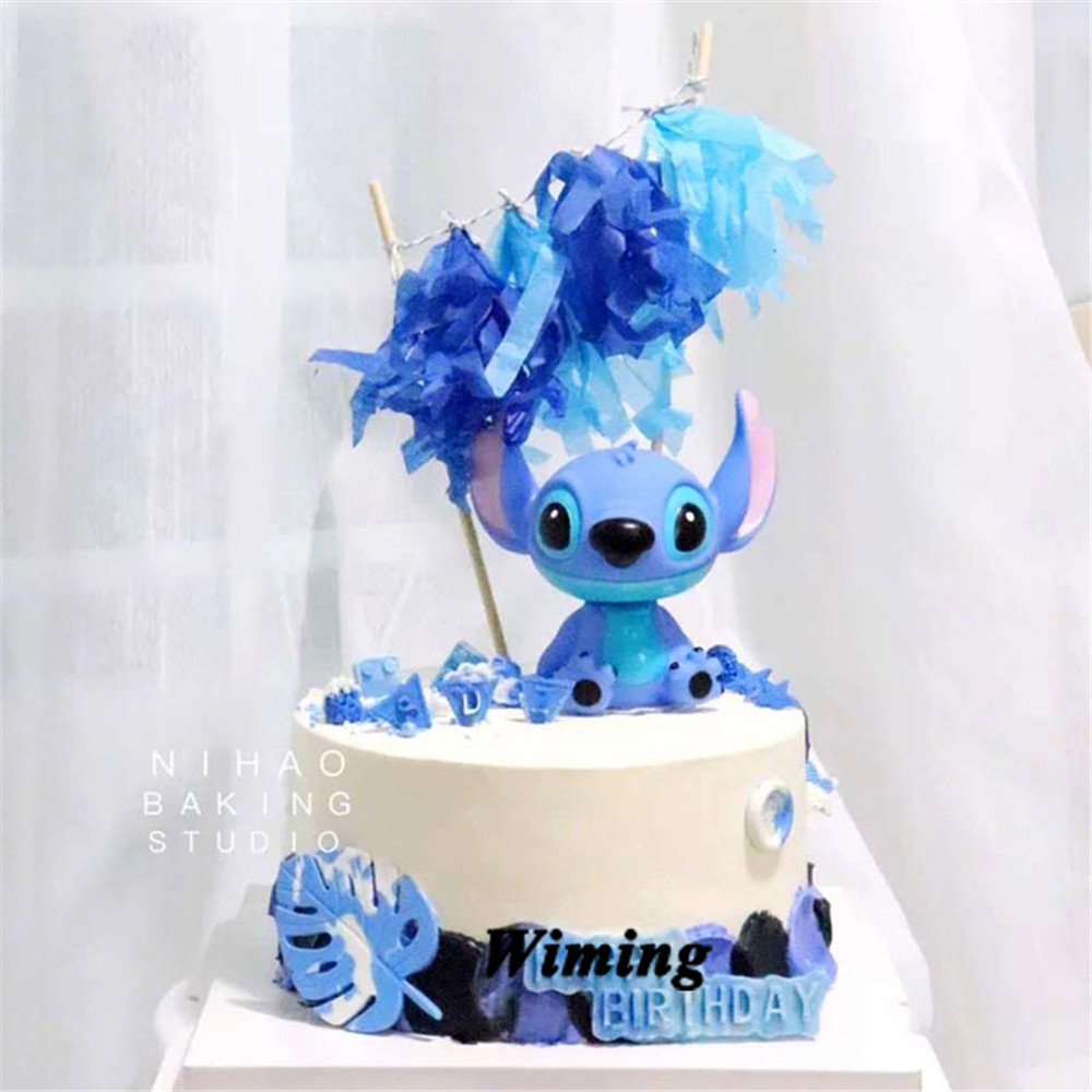 Stitch Animal Birthday Cake Topper Kids Toys Boys Baby Children Birthday Party Small Gifts Decoration Party Cupcake Toppers