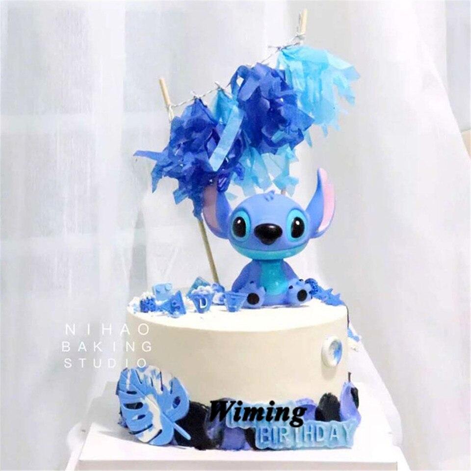 Excellent Stitch Animal Birthday Cake Topper Kids Toys Boys Baby Children Funny Birthday Cards Online Alyptdamsfinfo