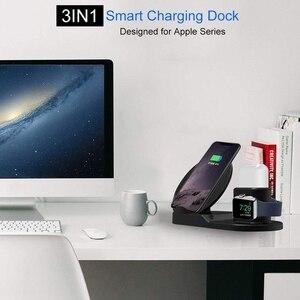 Image 2 - Fdgao Qi Draadloze Oplader Snel Opladen Voor Iphone 11 8 X Xs Xr Apple Horloge 5 4 3 2 Airpods pro 10W 3 In 1 Voor Samsung S20 S10
