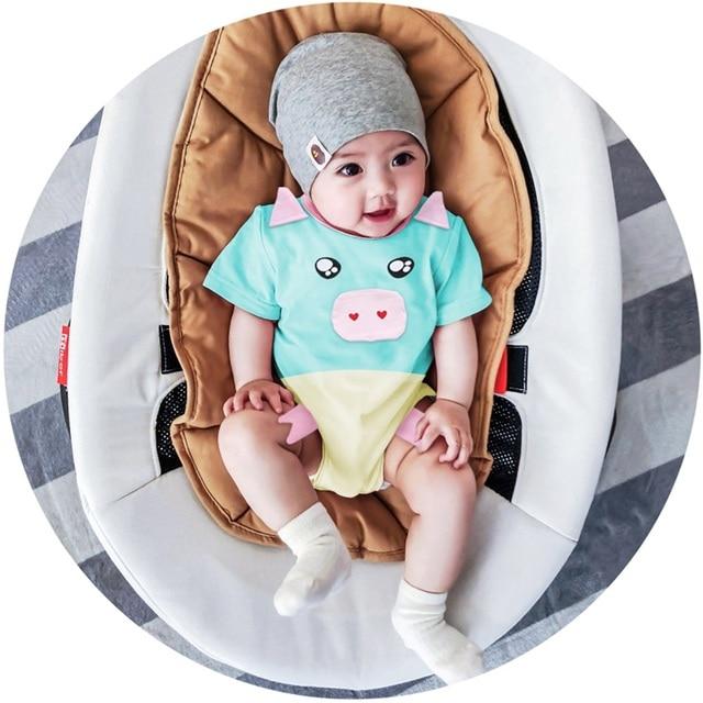 Novas Macacão de Bebê Casuais 3D Porco de Manga Curta Macacão de Algodão Macio Roupas Recém-nascidos Roupas Bebe Romper Meninos Meninas Macacão & roupas