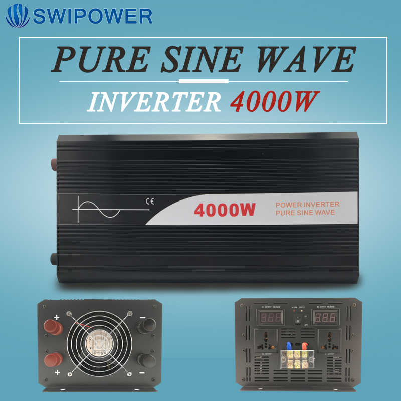 pure sine wave power inverter 4000W with digital display