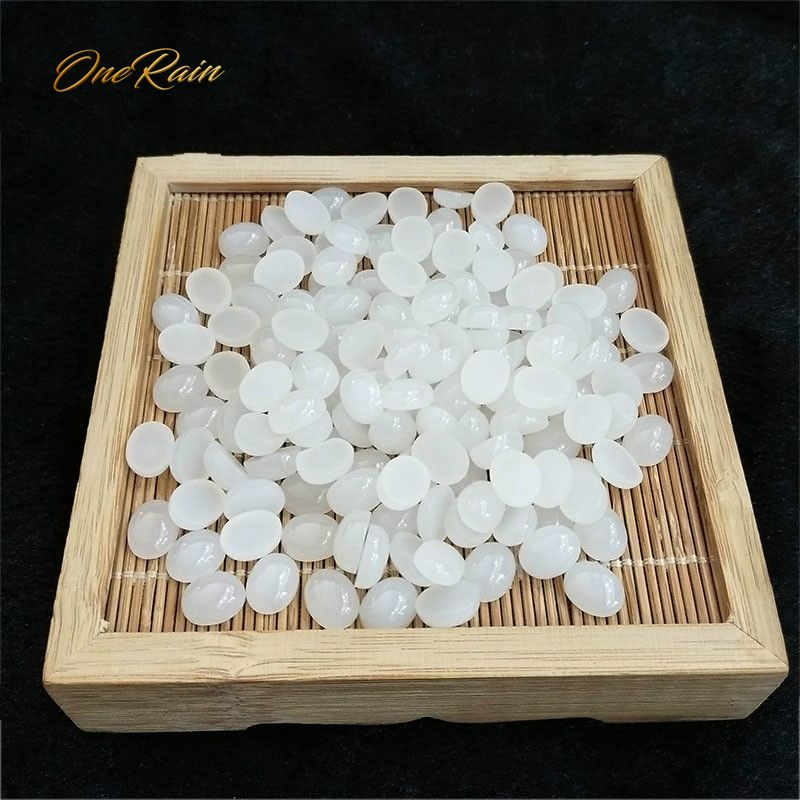OneRain Free Shipping 1 PCS Top Quality 8 * 10 Oval Natural White Hetian Jades Loose Gemstones For DIY Jewelry Making Wholeslae
