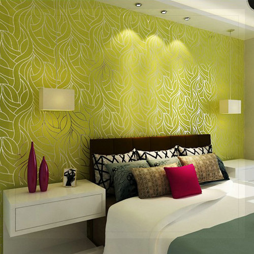 Curve Line Non woven Feature Wall Wallpapers for Bedroom Living Room ...