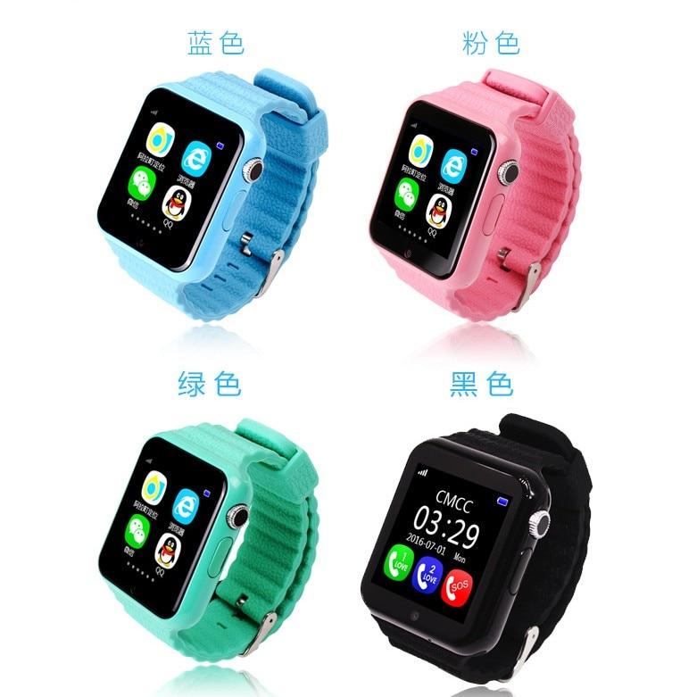 GPS Montre Smart Watch Enfants montre Étanche V7K avec Caméra/Facebook SOS Call Lieu DevicerTracker Anti-Perdu Moniteur PK q90/Q80/Q60