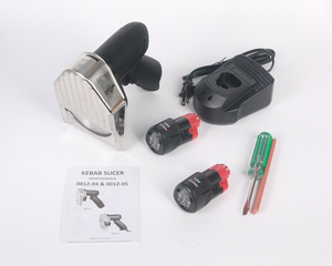 Image 3 - Лидер продаж Беспроводной слайсер для кебаба с Батарея шаурма Донер Ножи Турция Электрический Гироскопы Разделки мяса Еда машина 110V 220V