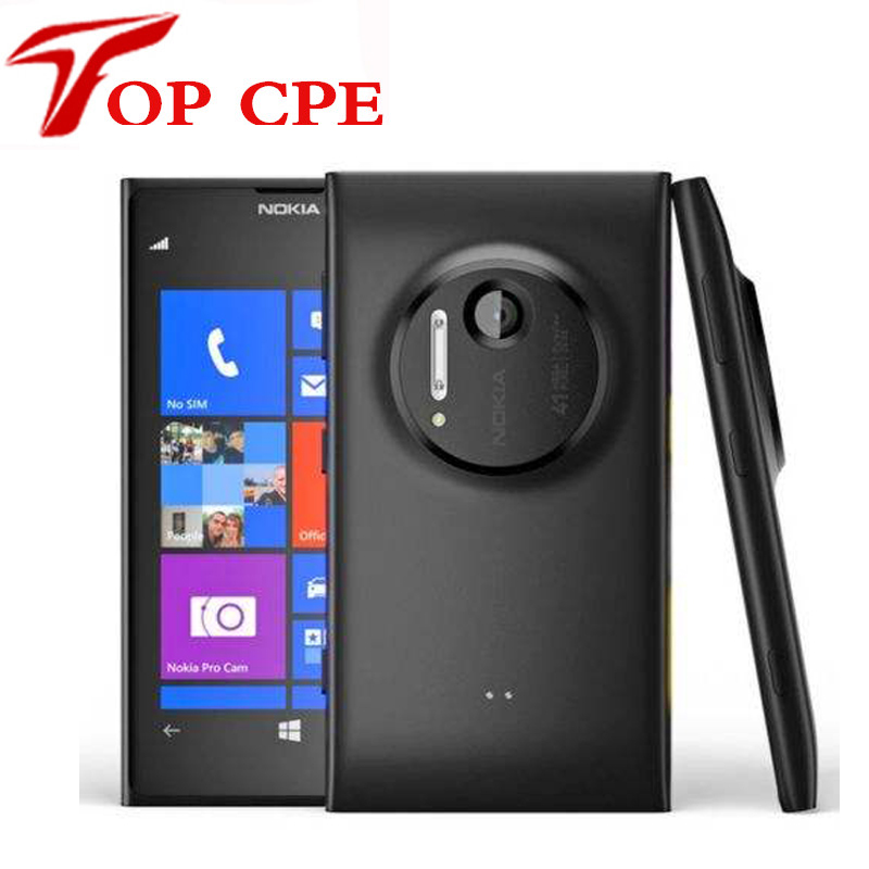 "Original Nokia Lumia 1020 41.0MP Camra 32GB ROM 2G Brand mobile phone unlocked 4.5"" Touch screen Dual core WIFI Refurbished"