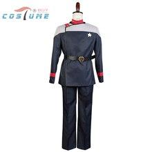 Star Trek Starfleet 31 Uniform Coat Pants Red Inner Shirt For Men Movie Halloween Cosplay Costume Custom Made