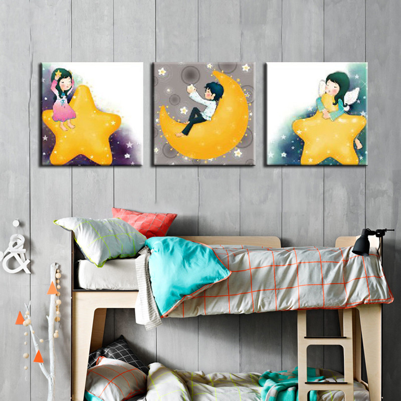 Popular korean boy picture buy cheap korean boy picture for Kids room canvas