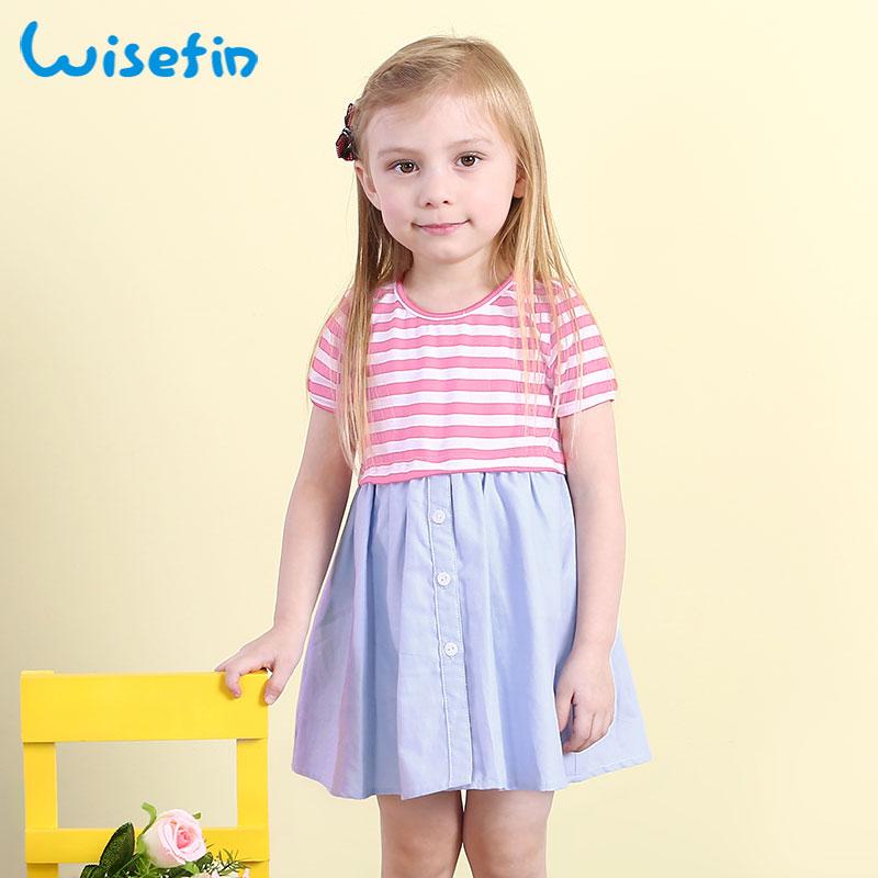 ᗛWisefin niños rayas vestido para niñas 2018 vestidos de partido ...