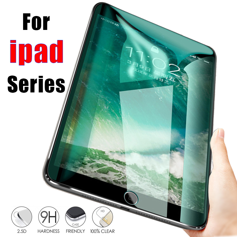 For Apple IPad 9.7 Screen Protector Protective On Film Tempered Glas For Ipad 2018 2017 10.5 5th 6th Pro Tremp Air 1 2 Mini 3 4