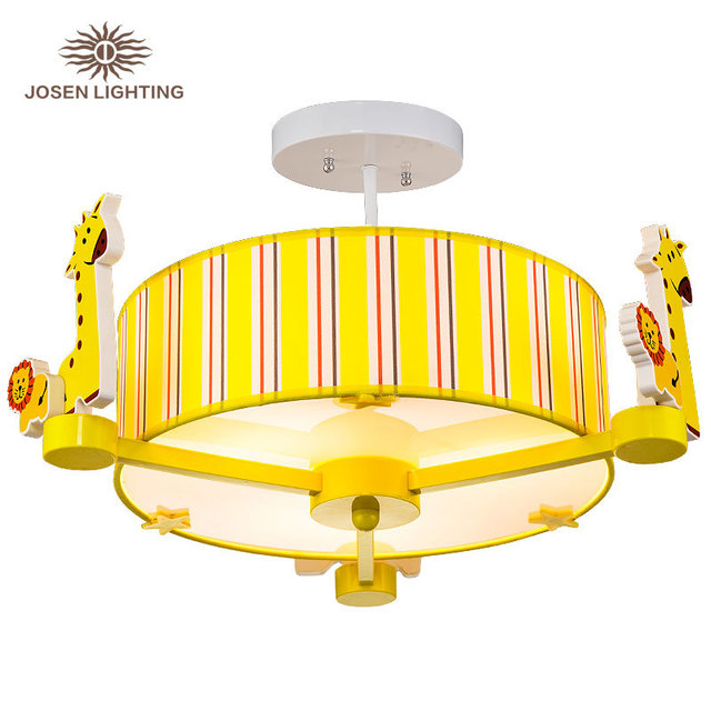 Cartoon baby kids ceiling lamp sleep beside bedroom reading lamp kids room children night light hanging