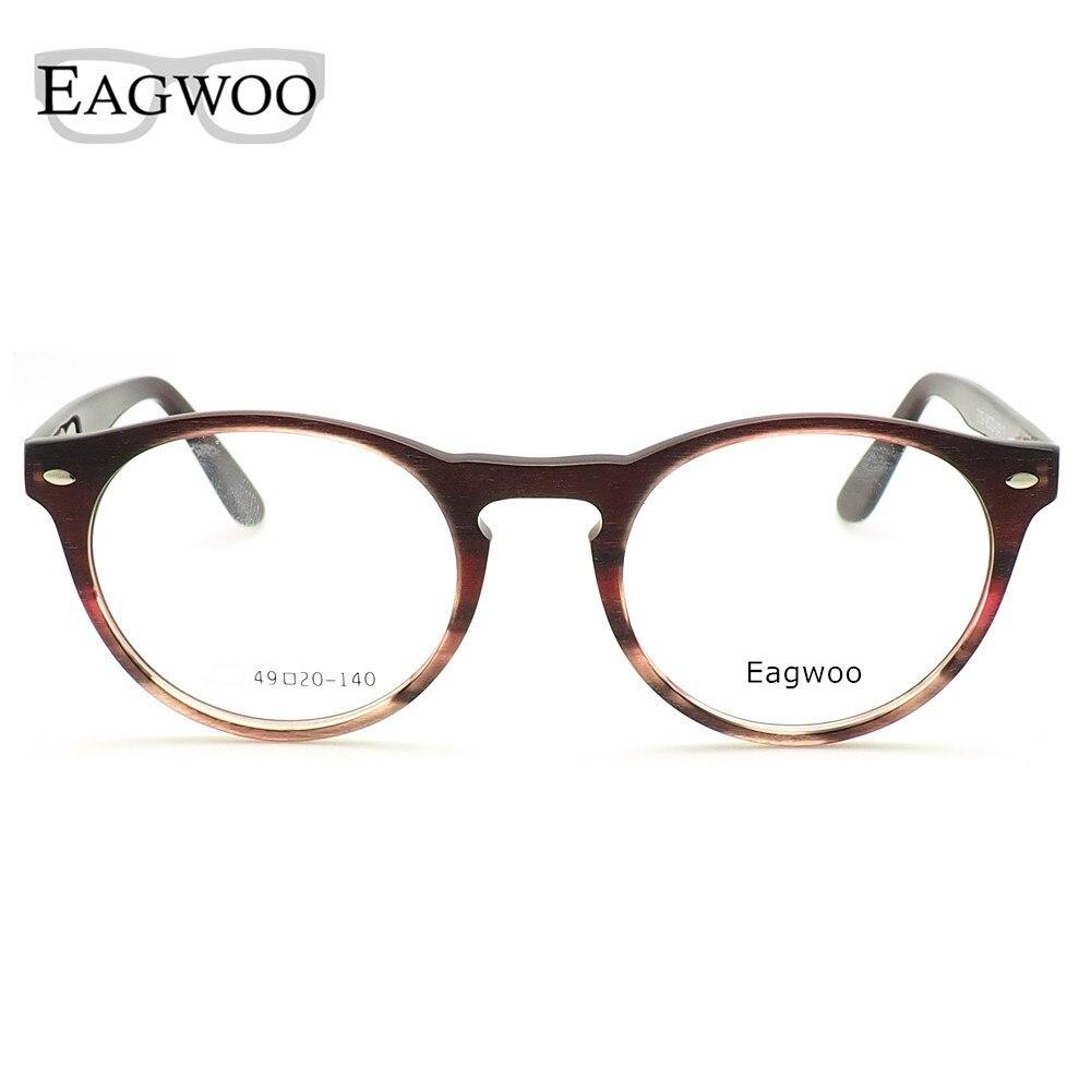 b6302b94f8f EAGWOO Women Round Designed Eyeglasses Full Rim Vintage Optical Frame  Prescription Fashion Eye Glasses With Spring