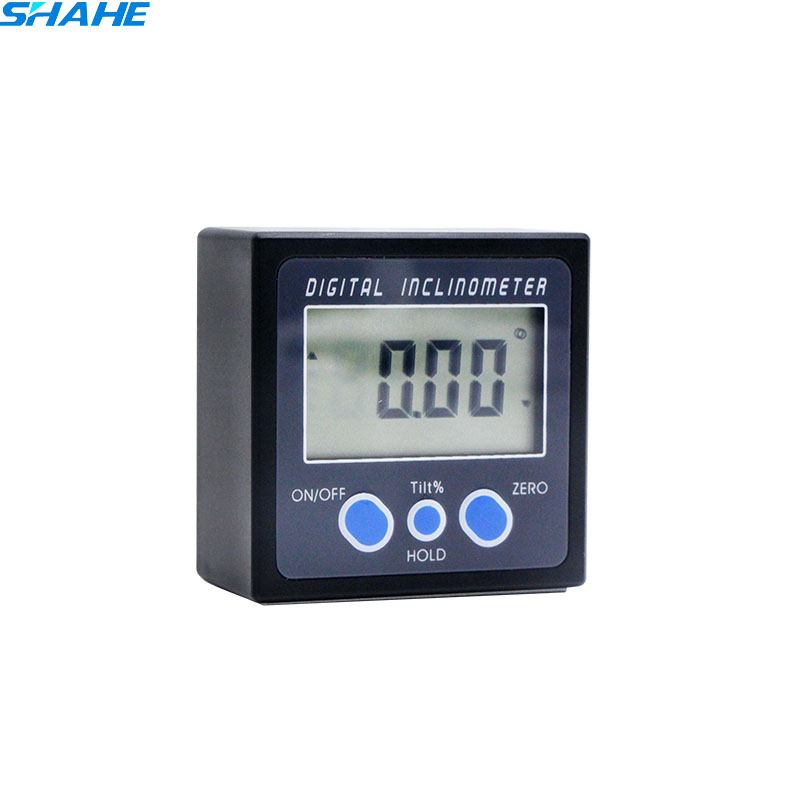 Electronic Angle Instruments : Digital plastic inclinometer level measuring instrument