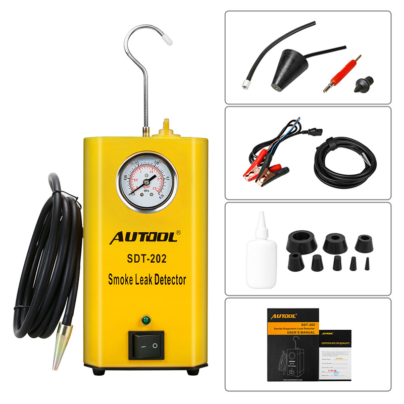 Autool SDT202 Universal Car Evap Vacuum Smoke Diagnostic Machine Auto Leak Detector tool Test for Automotive