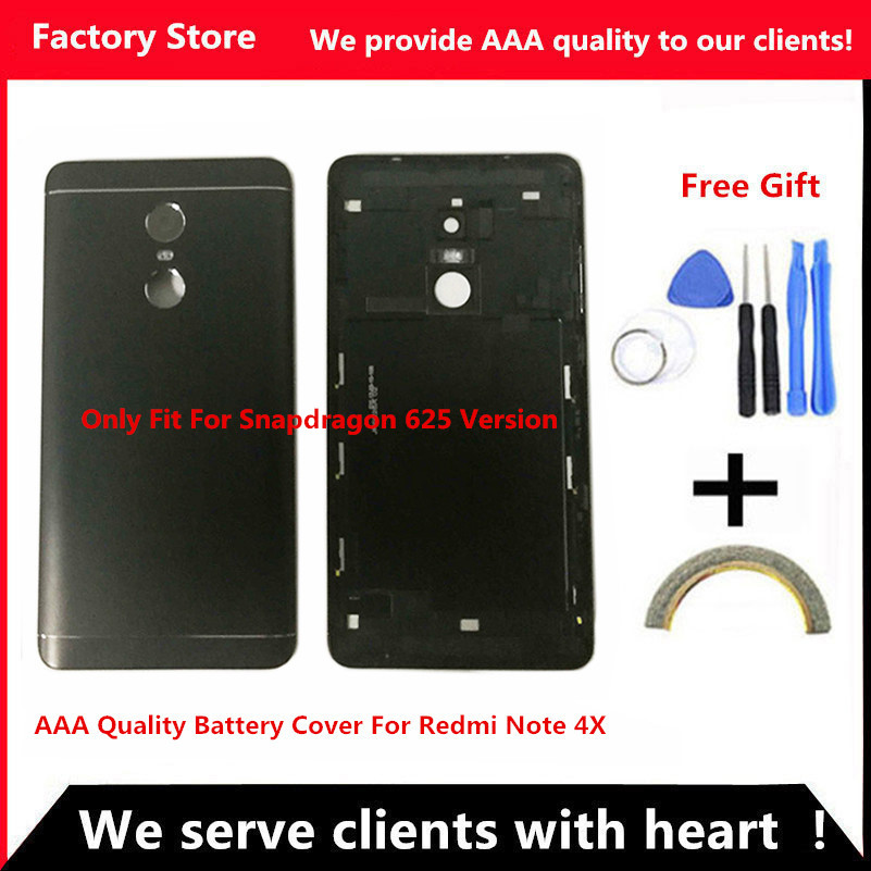 Battery Back Cover For Redmi Note 4X Battery Back Case For Redmi Note 4 Global Version Housing +Volume buttons + Power Buttons(China)