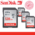 Original SanDisk Ultra SD card 128GB 64GB 32GB 16GB Class 10 SD SDHC SDXC Memory Card C10 80MB/s Support Official Verification