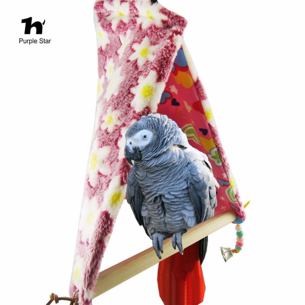 Paars Ster Vogel Papegaai Gelukkig Hut Katoen Nest Stand Bar Kooi Vogel Tenten Speelgoed Opgeschort Kooien Schuur Swing Slaapkamer Parkieten Hangmat