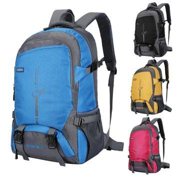 Mochilas de escalada al aire libre de poliéster 45L, mochila de viaje para senderismo resistente al desgaste para actividades al aire libre