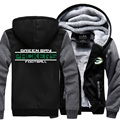 Winter New Arrival National NFL American Jacket Thicken Fleece Zipper Hoodie Men Tops Plus size