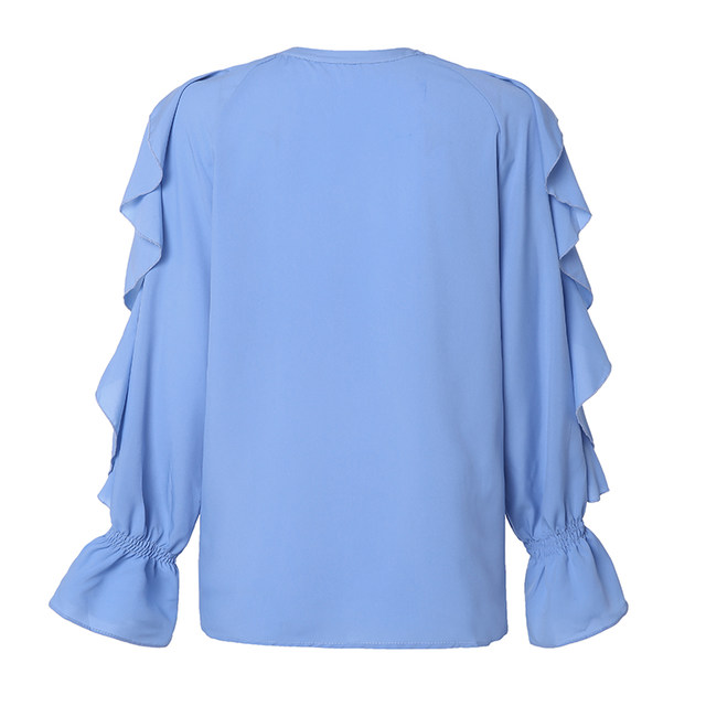 Celmia Stylish Tops Summer Ruffled Blouse Women Sexy V neck Long Sleeve Shirts Female Casual Buttons Street Blusas Plus Size 5XL 28