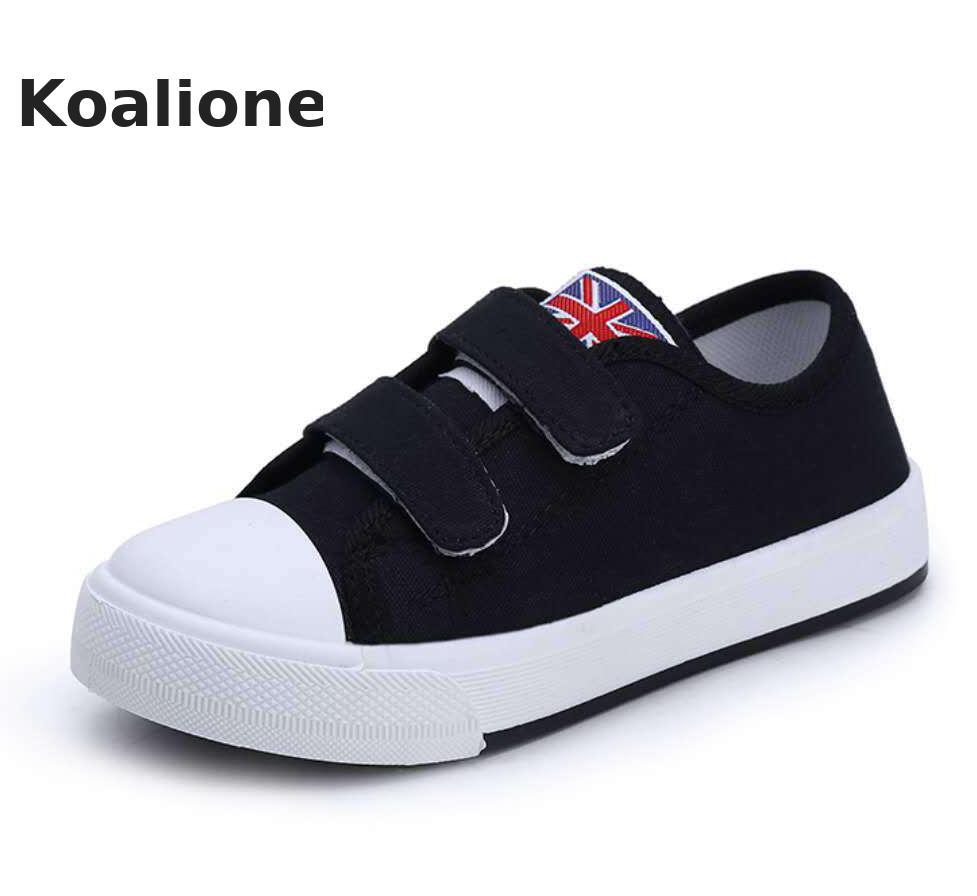 Kids Canvas Shoes For Girls Boys Sneakers Children Casual Shoes Baby Toddler Shoes Fashion Student Classic White Spring Autumn