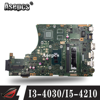 X455LA motherboard For ASUS X455L X455LJ X455LN X455LD A455L F455L K455L Laptop mainboard 4G RAm i3/i5 EDP/LVDS