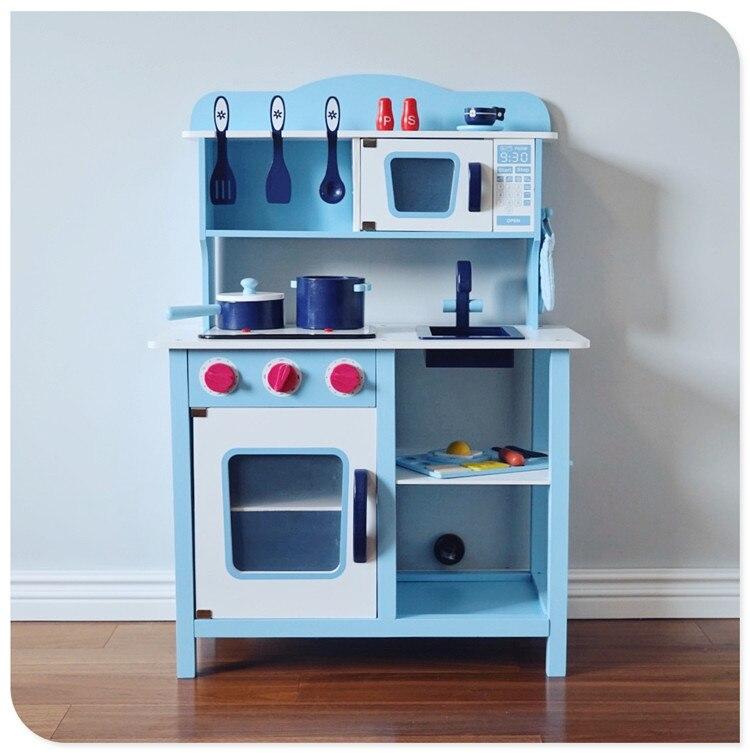 Nordic играть дома игрушки Многофункциональный Детские игрушки синий большой Кухня Приготовление Риса настольная Имитация Модель игрушечная