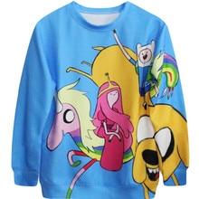 Adventure Time FINN Jack Sweatshirts For Women Men Spring & Autumn Harajuku 3d Print Hoodie Hora De Aventura Couples Clothing