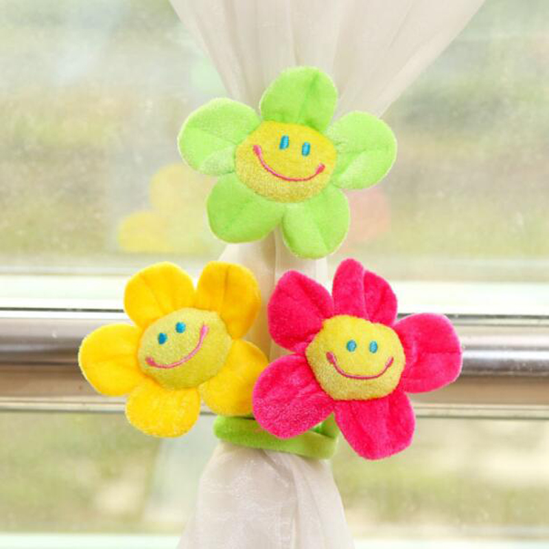 Modern Purple traditional Chinese Sunflower Red Flower curtain holder curtain accessories decoration wholesale retail CP003