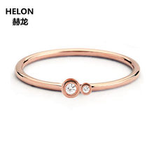Solid 10k Rose Gold Natural Diamonds Women Ring Office Career Style Party Fine Jewelry Engagement Wedding Band