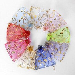 Image 2 - 100 шт., 15x20 см, 17x23 см, 20x30, золотой цвет, любовь, сердце, роза, конфеты, подарок, рождественские сумки, украшения, упаковка