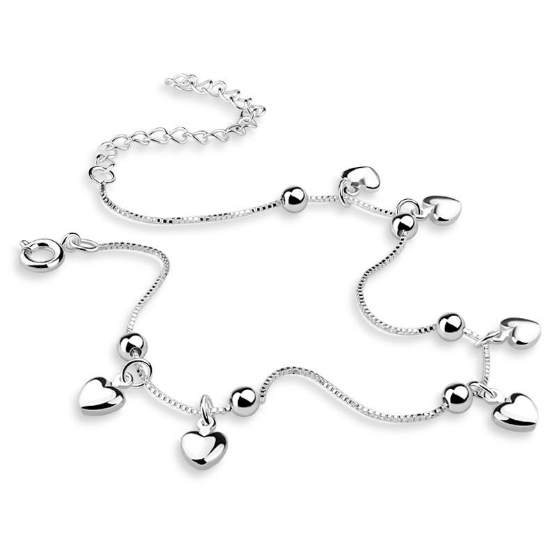 Fashion women 925 silver chains, beautiful heart-shaped pendant chains, solid silver chains, the gift in the summer