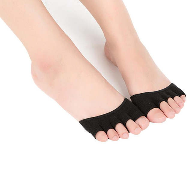 grandes ofertas en moda mejor venta comprar baratas Sock Slippers Para Fascitis Plantar Invisibles Pilates Calcetines  Antideslizantes Mujer Ballet Foot Stretch #VE