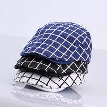 d2d7159a2eeaf New Fashion Gatsby Newsboy Cap Men Cotton Hat Golf Driving Flat Cabbie  Unisex Plaid Check Berets