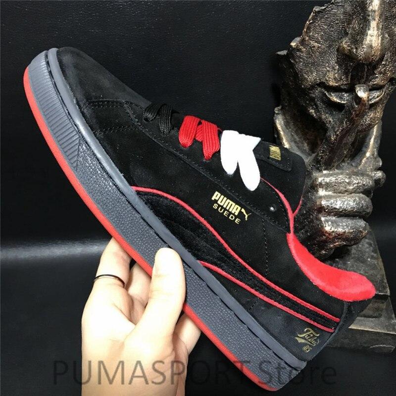 New Arrival Puma Suede 50 Fubu Men's and Women's Breathable Sneaker Badminton Shoes Size36-44