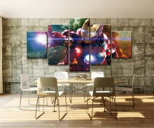 Iron Man Science Fiction Movie Modern HD Print 5 Piece Canvas Wall Art For Living Room Painting Artwork