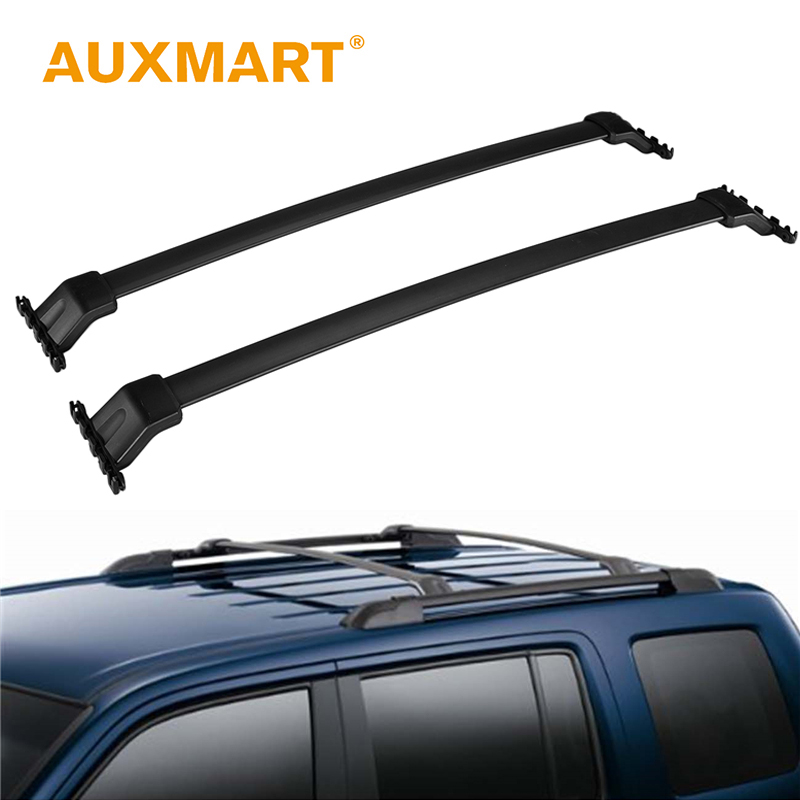 Auxmart Roof Rack Cross Bar for Honda Pilot 2009~2015 <font><b>Car</b></font> Rooftop Rails Boxes Load Cargo Luggage Carrier Bike Easy Removable