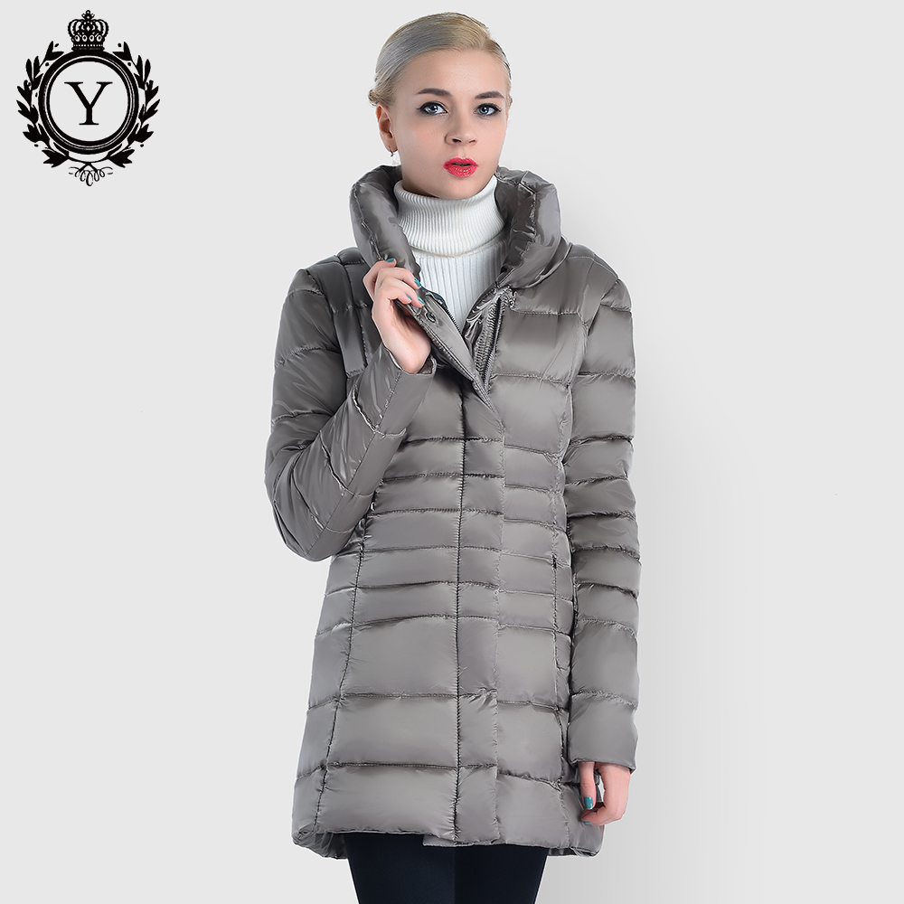 2018 COUTUDI New   Parkas   Female Women Winter Coat Solid Color Cotton Autumn Winter Jacket Womens Outwear Long   Parkas   Winter Coat