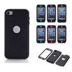 black shockproof anti-shock hybrid hard cover case for ipod touch 6/touch 5
