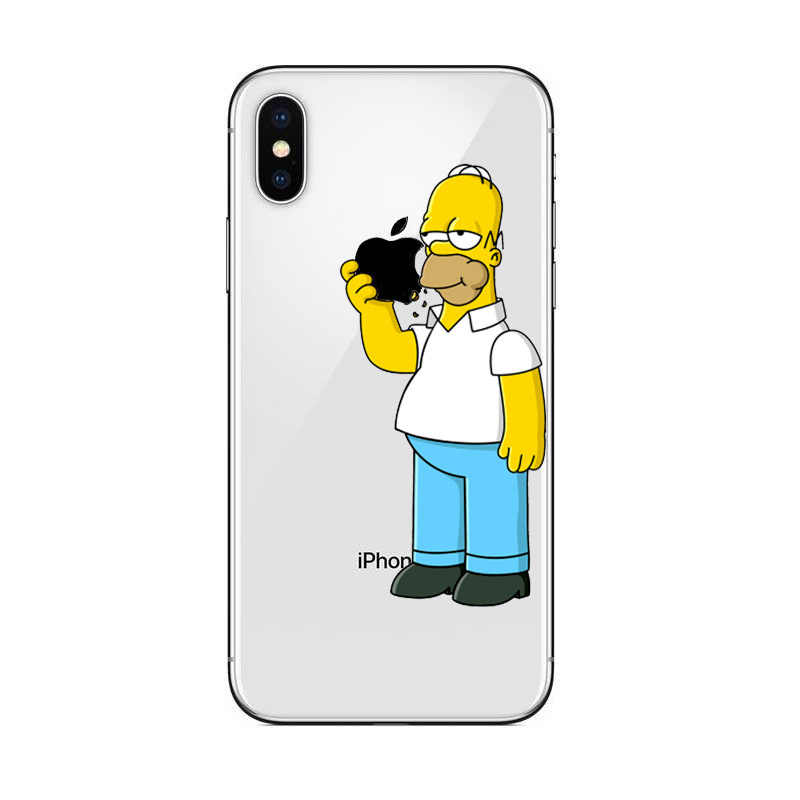Cool Homer Simpsons Eating Plastic LOGO hard Cover Case iPhone 11