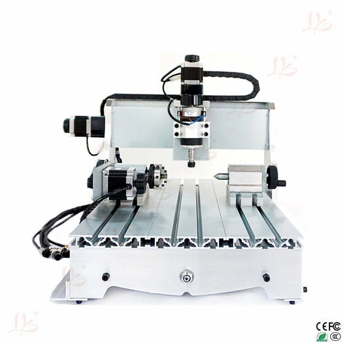 Cheap 4axis mini cnc milling machine 3040Z-D300 cnc router with 300W cnc spindle mini cnc machine cnc router wood milling machine cnc 3040z vfd800w 3axis usb for wood working with ball screw