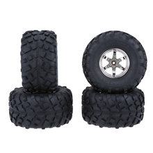 4 stks/set 1/10 Truck Tire Banden Wiel voor Traxxas HSP Tamiya HPI Kyosho RC Model Monster RC Auto(China)
